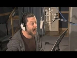 "Here's Serkis recording as Screwtape. Probably not yelling ""my Precious!"""